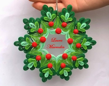 DIY Quilling Christmas Decoration -3 - DIY Quilling Christmas Decoration -3 - Cool Creativities