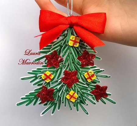 DIY Quilling Christmas Decoration -4