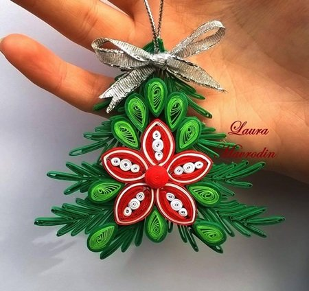 DIY Quilling Christmas Decoration -5