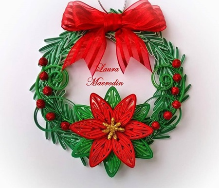 DIY Quilling Christmas Decoration -6