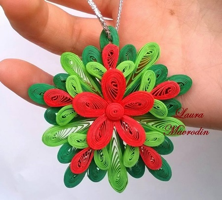 DIY Quilling Christmas Decoration -7