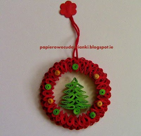 DIY Quilling Christmas Decoration -8