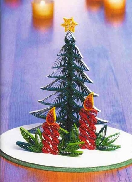 DIY Quilling Christmas Decoration -9