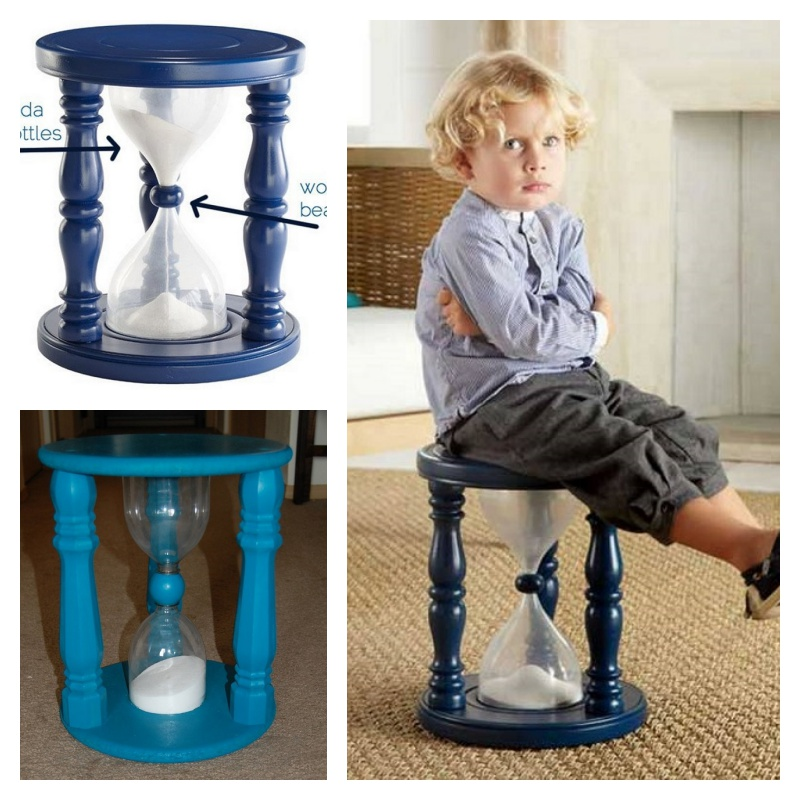 DIY Sand Hourglass Time Out Chair With Plastic Drink Bottles