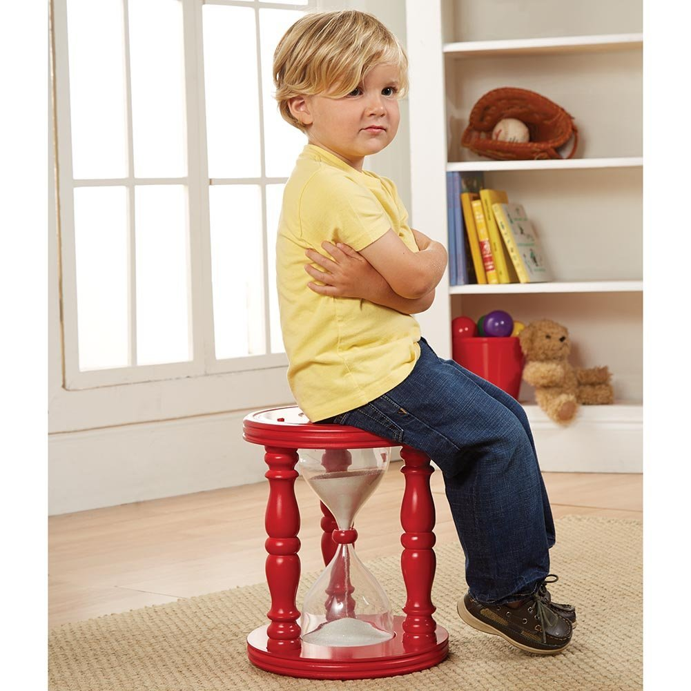 DIY Sand Hourglass Time Out Stool With Plastic Drink Bottles