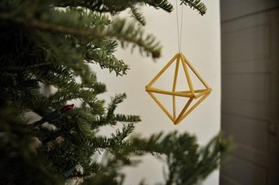 Geometric Straw Ornament