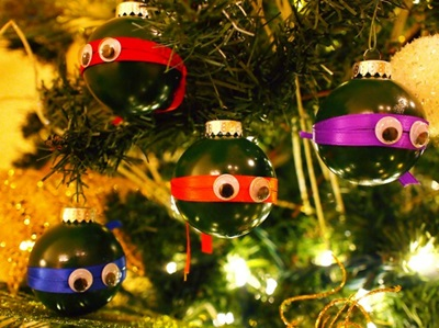50 Creative DIY Christmas Ornament Ideas and Tutorial-Ninja Turtle Christmas Ornaments