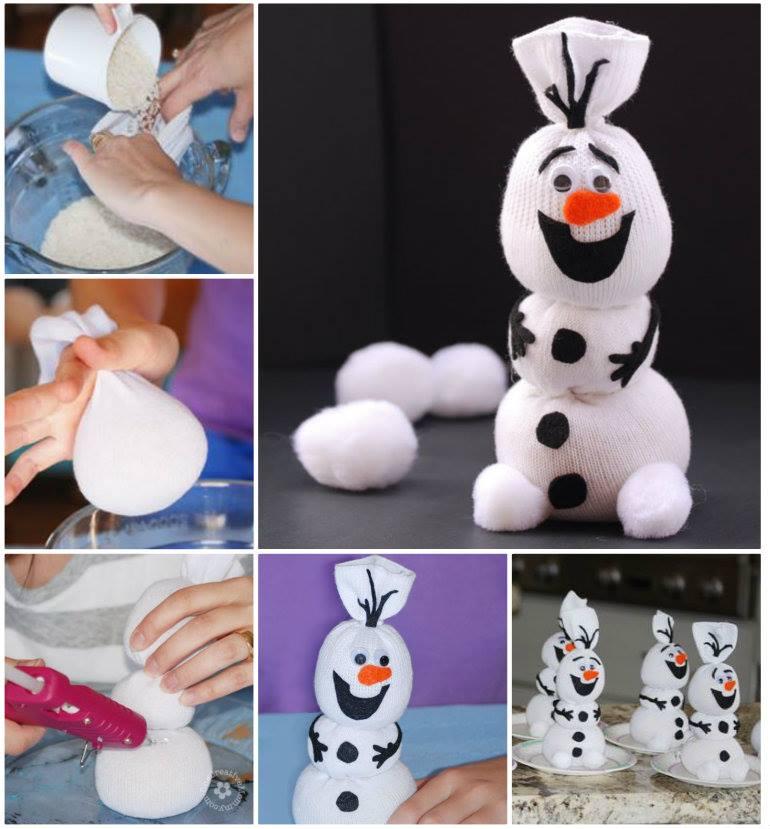 Как сделать своими руками снеговика в домашних условиях 65