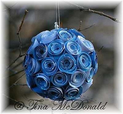 Rolled flower ornament