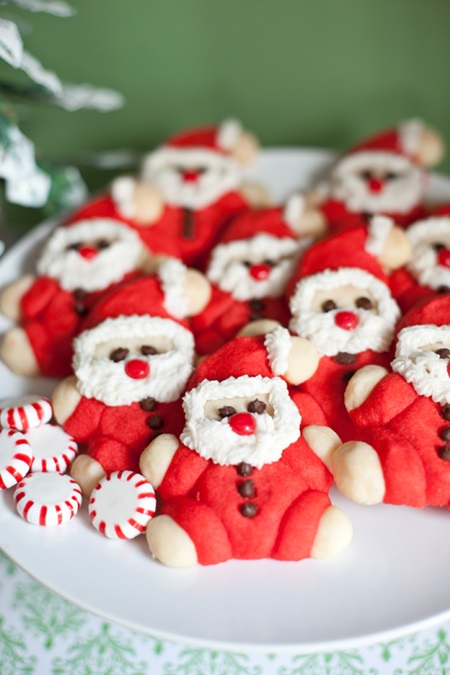 Roly-Poly Santa Cookie