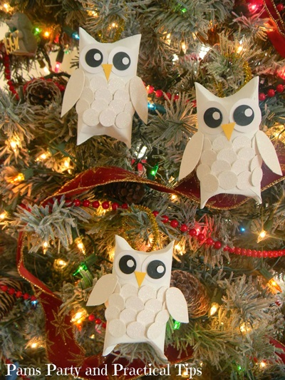 Snow Owls Christmas Ornament