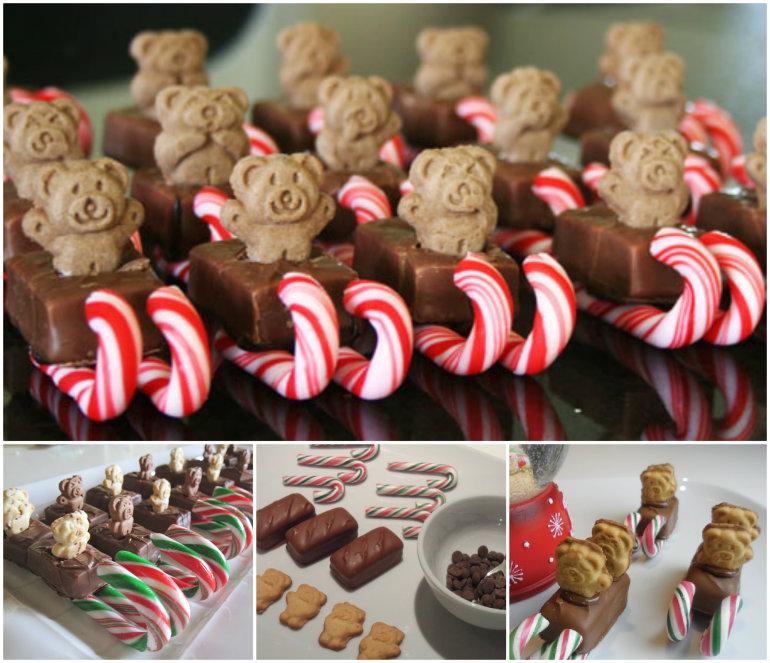 Tiny Teddy Christmas Sleighs