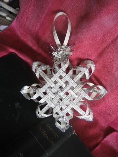 Woven Paper Snowflake Ornaments