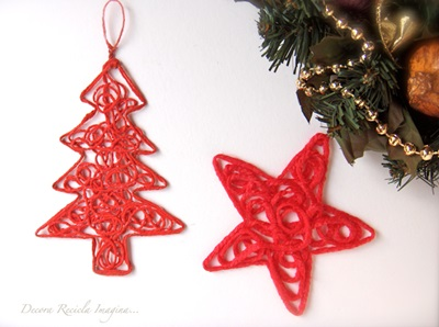 50 Creative DIY Christmas Ornament Ideas and Tutorial-Yarn Ornaments