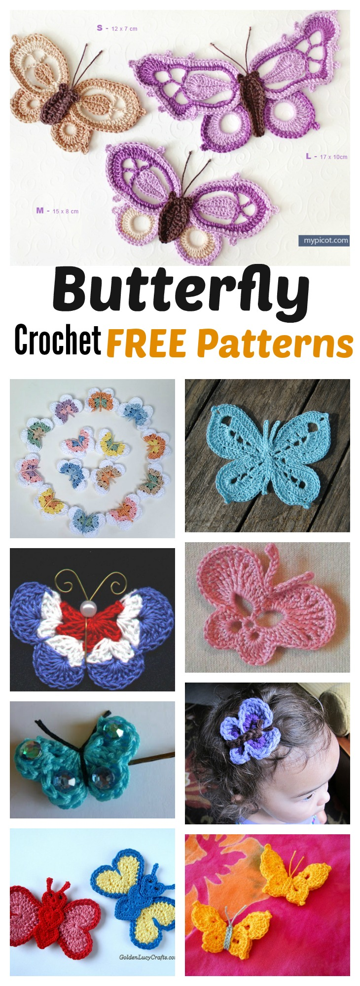 Crochet Butterfly Free Patterns You Should Try For Your