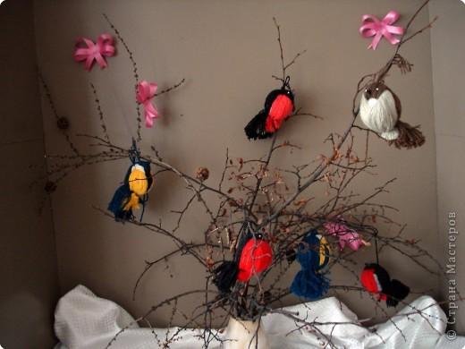Птицы из ниток своими руками мастер класс