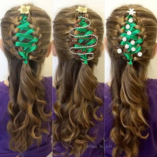 Corset-Ribbon-Christmas-Tree-Hair-Braid-Tutorial