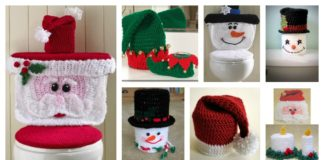 Crochet Bathroom Christmas Pattern