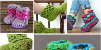 Crocodile Crochet Boots