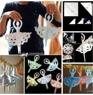 DIY Adorable Snowflake Ballerinas Garland