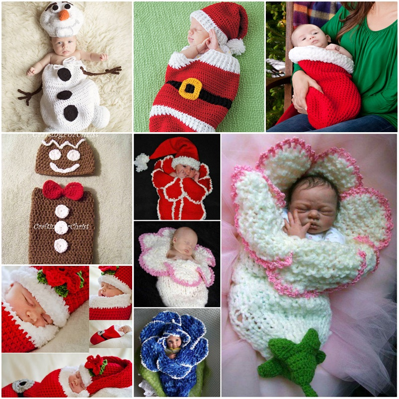 Christmas Baby Cocoon Crochet Pattern : Cute Christmas Crochet Cocoon Patterns