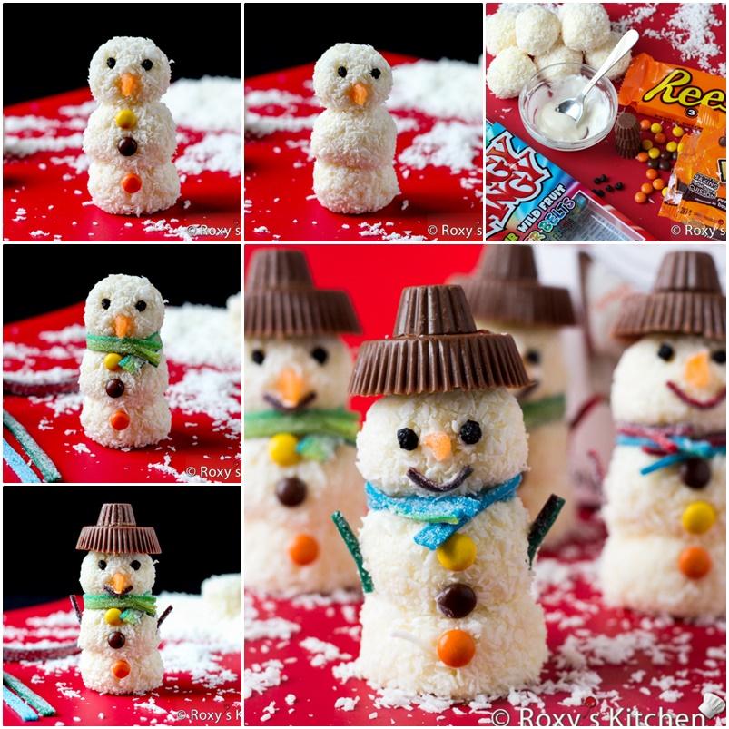 DIY Homemade Raffaello Snowmen