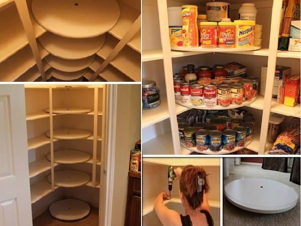 DIY Lazy Susan Pantry Makeover