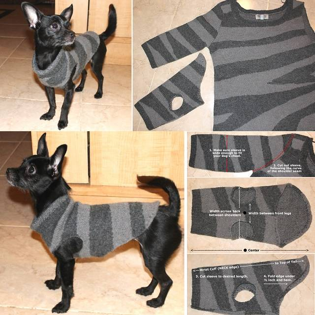 DIY Recycled Dog Sweater