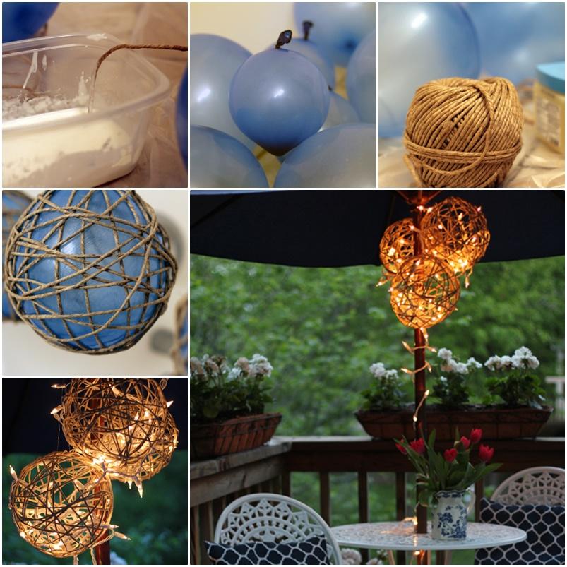 Diy twine garden lanterns for Diy lantern lights