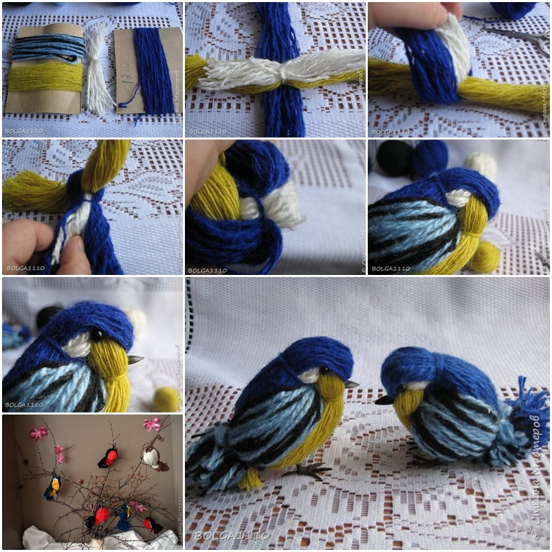 DIY Yarn Birdies