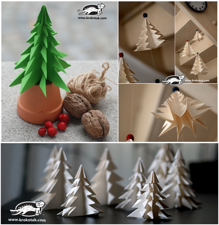 Decorate Christmas Tree On Paper : Diy paper christmas tree to decorate your rooms