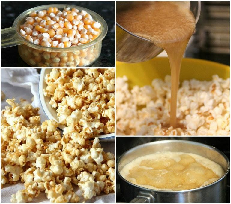 How to Homemade Salted Caramel Popcorn