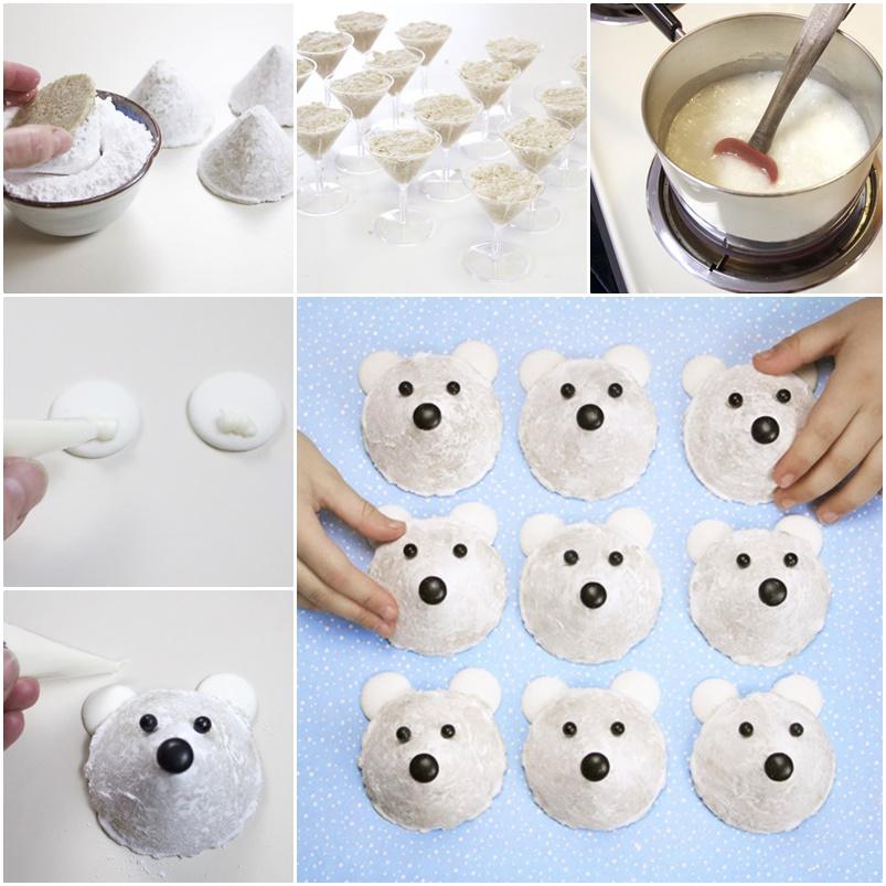 DIY Easy No Bake Polar Bear Cookies