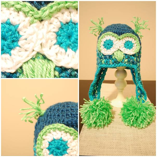 Baby Crochet Owl Hat with free pattern