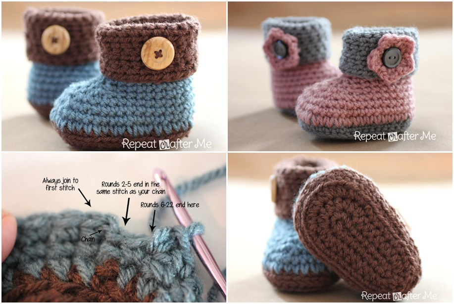 Free Printable Crochet Baby Booties Patterns