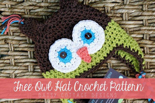 Crochet Owl Kids Hat with Free Pattern