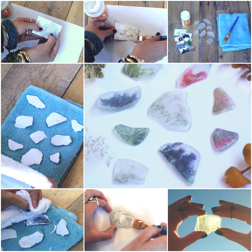 DIY Beach Glass Photo Transfer