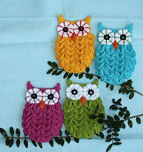 DIY Crochet Owl in Crocodile Stitch with Pattern