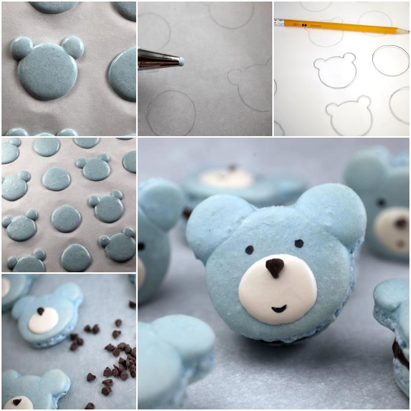 DIY Cute Bear Macarons