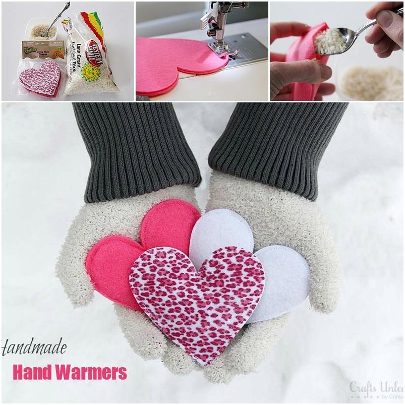 Warm Hearts=Warm Hands! How to Make Handmade Hand Warmers
