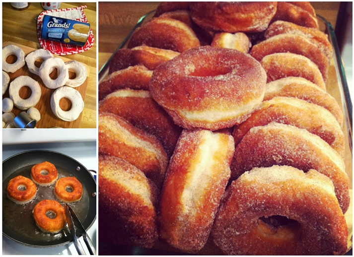 easy to make cinnamon sugar donuts