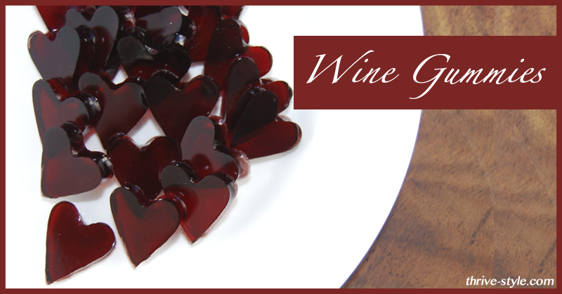 DIY Wine Gummy Heart for Health Snacks