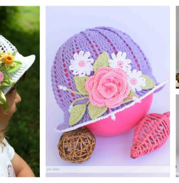 Crochet Pretty Panama Hat for Girls Free Pattern