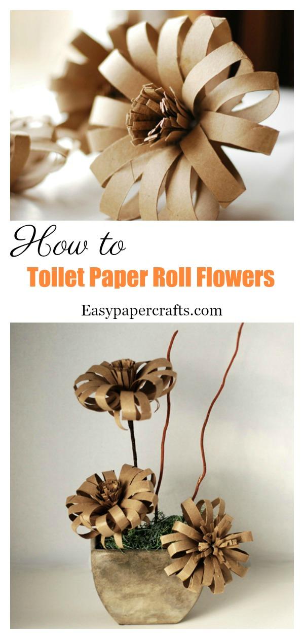 Diy Toilet Paper Roll Flowers