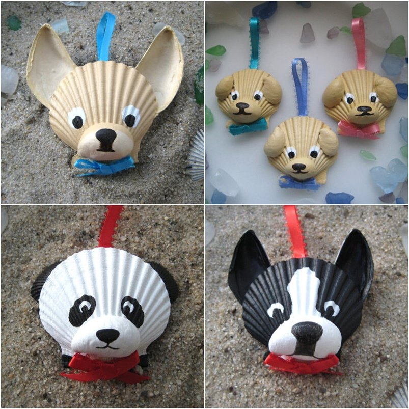 Adorable Seashell Craft Ideas-seashell-animal-Ornaments