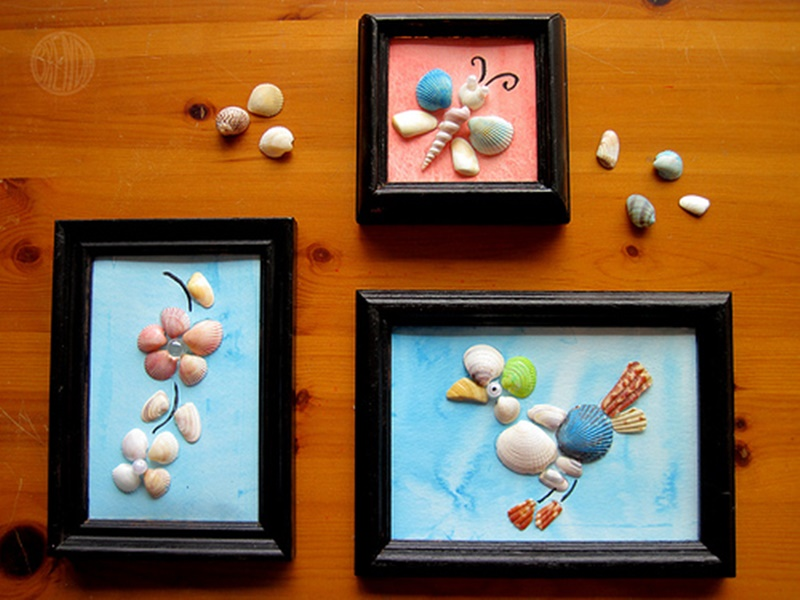 Adorable Seashell Craft Ideas-seashell-art