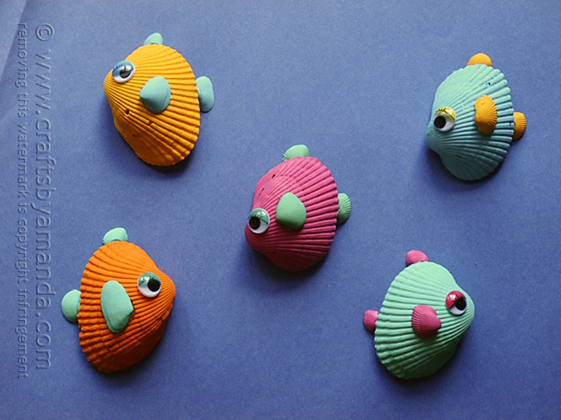 16 adorable seashell craft ideas you should do with your kids for What craft should i do