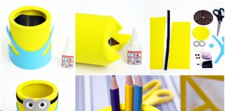 DIY Cute Minion Desk Organiser