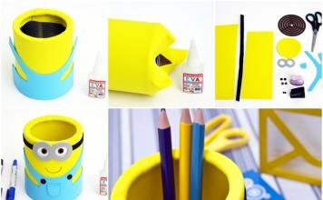 DIY Cute Minion Desk Organiser
