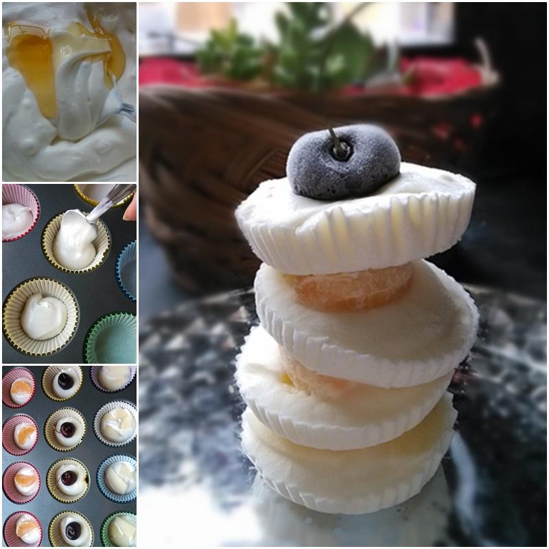 DIY Frozen Fruit Honey Yogurt Bites
